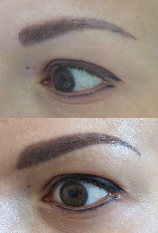 Skorygowany makijaż permanentny brwi i kresek