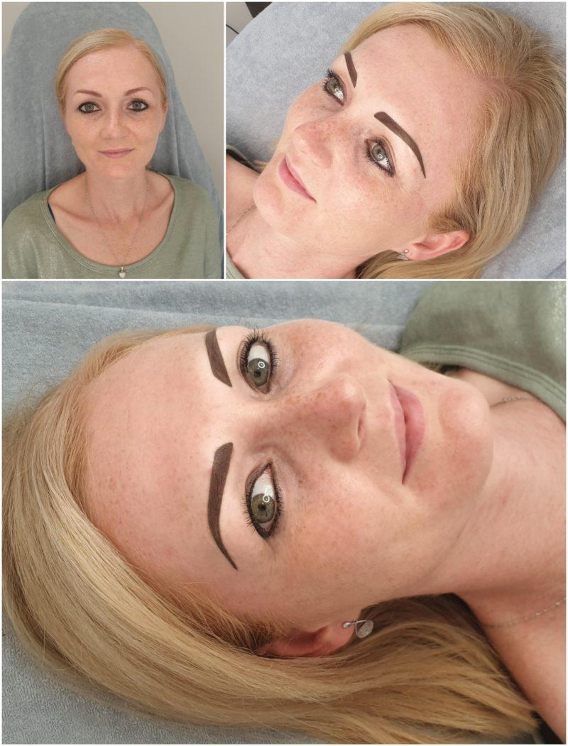 Makijaż permanentny brwi odświeżenie po półtora roku