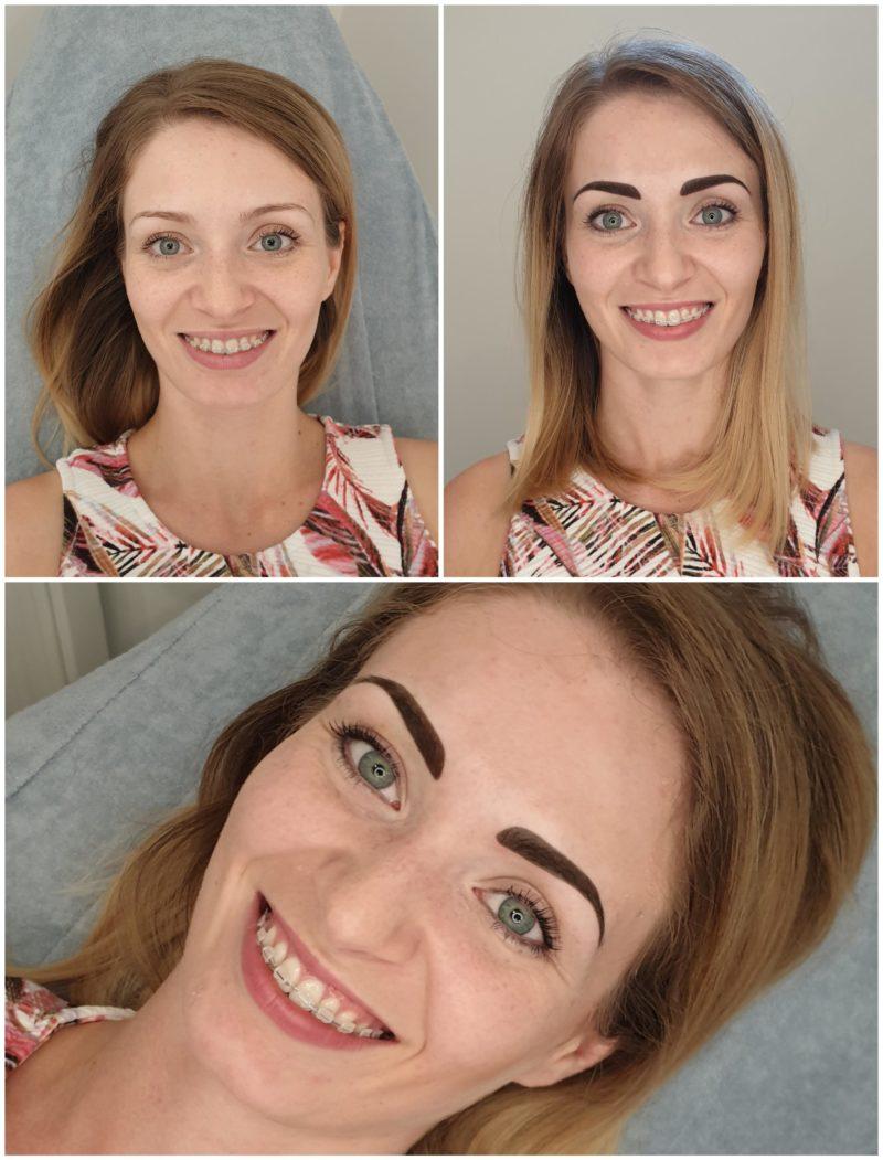 Makijaz permanentny brwi (tuż po zabiegu)