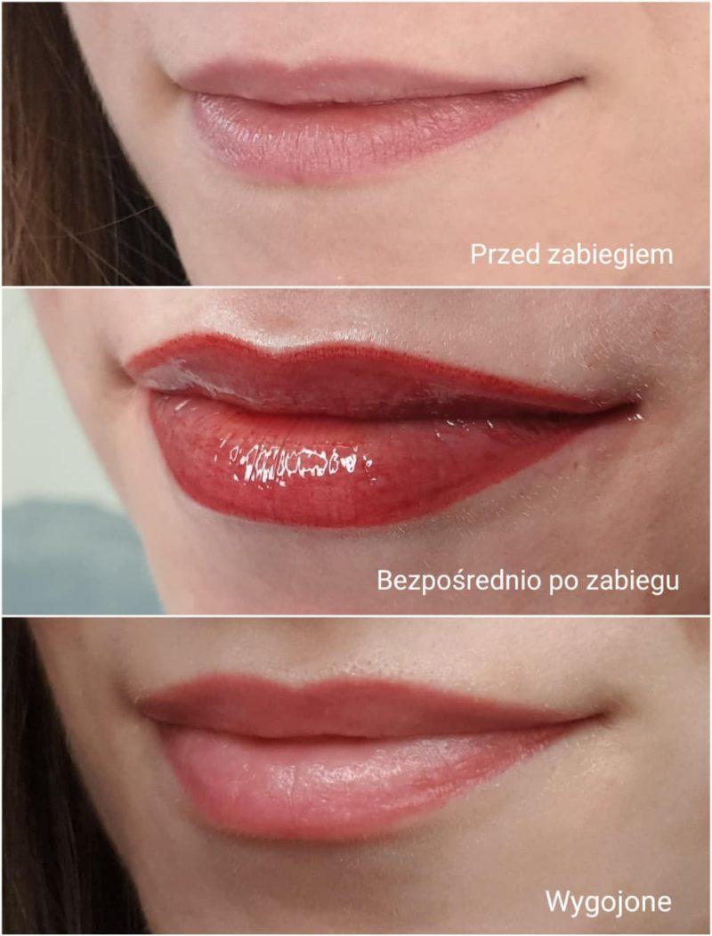 Etapy i efekty makijażu permanentnego ust